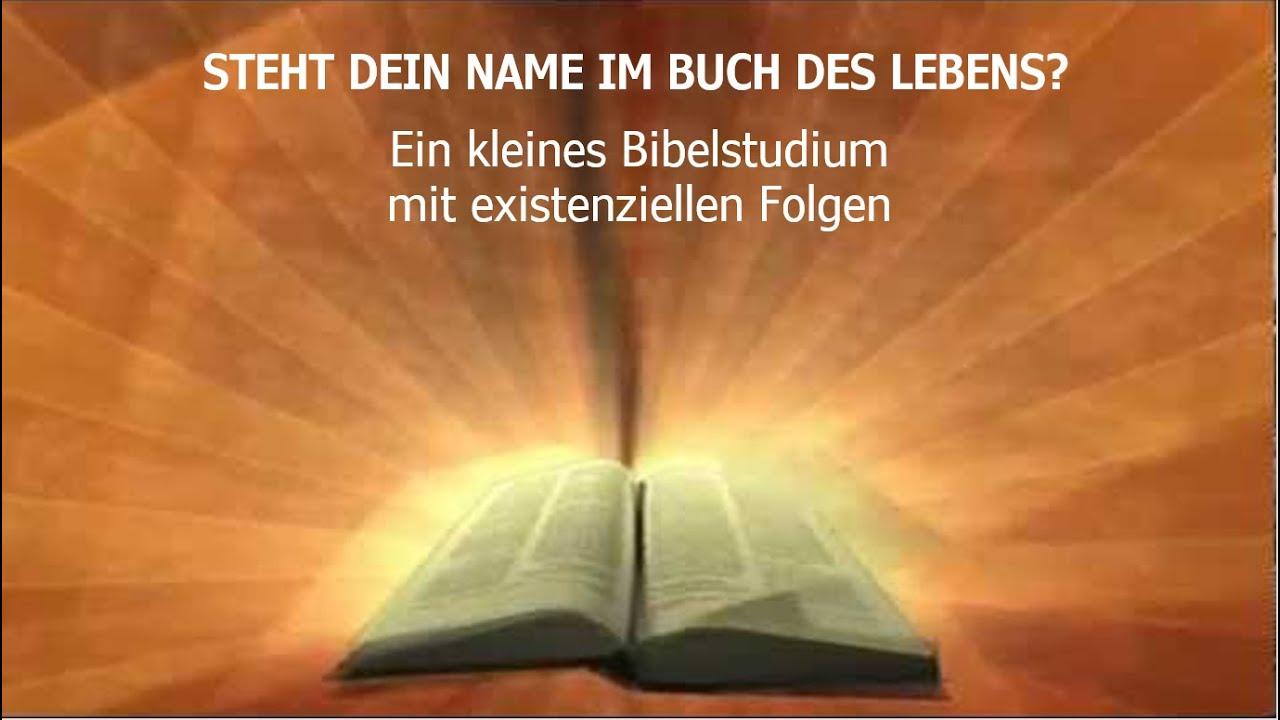 Steht dein Name im Buch des Lebens?