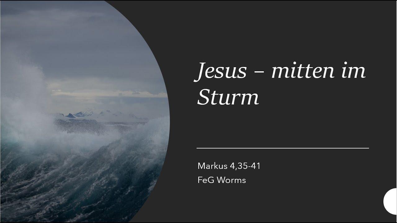 Jesus – mitten im Sturm